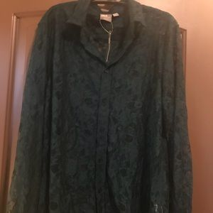 ASOS NWT medium long sleeve shirt solid green